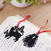 Wholesale New Stainless Steel Black Music Symbol Cat Bookmark Book Card For Wedding Baby Shower Party Birthday Favor Gift Souvenirs jy691