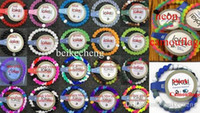 European America silicone bead - 200PCS Mix Colors Mix Size S M L XL SHARK beads bracelet seaside memorial LOKAi Silicone bracelet with Tags