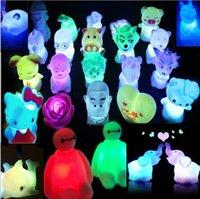 Wholesale Cartoon Fiigures LED Flash Colorful Small Night Lights Cute Street Night Market Sell Flashing Lamp Glow Children Gifts Home Decor