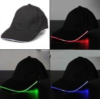 baseball cap with led - Stage performance Baseball Hats with LED light Varible Rich Colors Choice Party Caps Luminous Different Colors Flash Lights Caps
