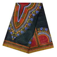 Wholesale Black Ethnic African Dashiki shirt fabric African Java Dashiki Wax Print Fabric for Maxi Skirt LBLDK