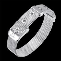 Wholesale H006 silver bracelet silver plated fashion jewelry Web Watchband Bracelet cvfalmma dwdamnka