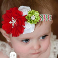 american apparel band - Popular Christmas Ornaments European And American Children Holiday Apparel Accessories Baby Head Flower Hair Band HB1004