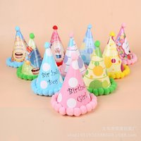 Wholesale Party Hats With Plush Ball Happy Birthday Party Supplies Party Hats Birthday Party Hats Kids Party Hats Adult Party Hats