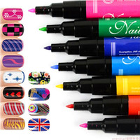 nail polish set - Pro Set D Nail Art Pen Painting Paint Drawing French Manicures Tools Beautiful UV Gel Nail Polish Set