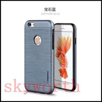 Wholesale For Iphone Plus S SE Samsung Galaxy Note S6 S7 edge Case Motomo TPU PC Brush magnetic car Mount