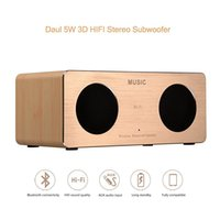 Wholesale W2 Wooden Wireless Bluetooth Speakers Mini Portable Hifi Subwoofers Wood Luxury Loud Music Players High Quality Fashion Speakers
