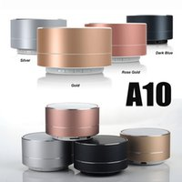 aluminum heavy metal - A10 Wireless Bluetooth Speakers LED Flash Aluminum Alloy Mini Portable Speaker Smart Hands Free Speaker With FM Support SD Card Heavy Bass