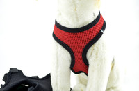 adjustable mesh harness - Adjustable Soft Breathable Dog Harness Nylon Mesh Vest Harness for Dogs Puppy Cat Collar Pets Chest Strap Leash Set