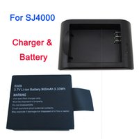 Wholesale SJ mAh V Wh New Li Ion Battery With AC DC Charger For GoPro Helmet Sport SJ4000 Digital Camera With Charger