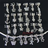Wholesale 100pcs Mixed DIY charms beads tibetan silver plated alloy charms