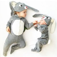 baby pants with footies - INS Baby Jumpsuits Rompers Footies Pants Kids Cartoon Bunny Cotton Set With Rabbit Ears Hat Cap Newborn Boys Girls Toddler Leggings Trousers