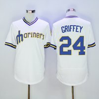 Wholesale Seattle Mariners Ken Griffey Pull Over Throwback Jersey New Season Mens Baseball Jerseys Discount Cheap Baseball Shirts Brand Uniforms