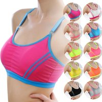 athletic wraps - 2016 New Hot sale Girls Fitness keep fit Women Lady Sports Athletic Solid Wrap Chest Strap Vest Tops Bra
