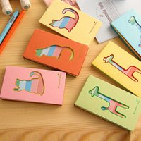 Wholesale 5pcs set Stationery lovely hollow small deer notes notebook Portable School office supplies Writing Pads Student gift Papelaria