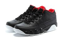 Wholesale 2016 new Retro Low Bred Black Red men basketball shoes Retro IX Low BLACK GYM RED WHITE mens sneakers