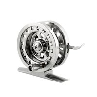 aluminum flywheel - Aluminum Alloy Super Strong Ice Fly Fishing Flywheel Tackle Reel BLD50 Brake System Silver