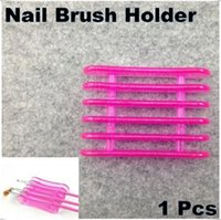 art brush holder - 100Pcs Makeup Design Nail Art Craft Acrylic UV Gel Brush Pen Plastic Rest Stand Holder