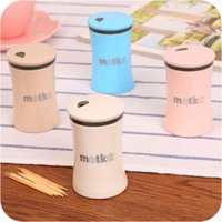 Wholesale High end European Fashion Creative Toothpick Boxes Elegant Toothpick Holder Household Spice Jar CF0213