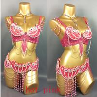 Hecho para medir nuevo traje 3piece / Set muy atractivo de la danza de vientre, cualquier tamaño, 34/36/38/40/42 BRAZO de BOMBSHELL de B / C / D / DD Vs Carta de Panty