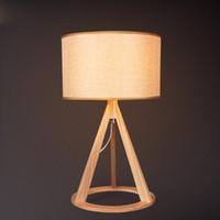 Wholesale Northern European Study Wooden Table Lamp Modern Living Room Bedroom Bedside Table Lamp Designer Lighting Fixture