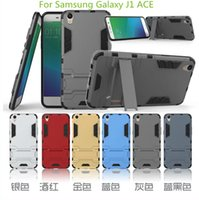ace supports - New Iron Man Armor phone Cases in Support Phone protection shell Shockprooof Dirt Proof for Samsung Galaxy J1 ACE J1