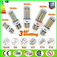 Wholesale SMD5730 E27 GU10 B22 E14 G9 LED light bulbs W W W W W angle LED Bulb Led Corn lamp V V