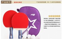 Wholesale table tennis ball bag table tennis rackets table tennis ball bag table tennis rackets cover bilayer film sets