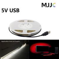 al por mayor cables de smd-MJJC Superbright blanco llevó cinta de tiras de luz con cable USB 5V SMD 3528 300 SMD