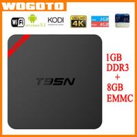 Wholesale T95N Mini MX Amlogic S905 Android TV BOX Kodi K Live TV VS MXQ S805 S905 M8S Mini M8S Q BOX Smart TV BOX