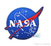 backside clothing - US The National Aeronautics and Space Administration NASA Embroidery D Badge Patch Morale Military Armband Velcro Backside free ship