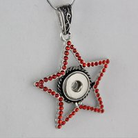 Wholesale Mixed Style Brand New NOOSA Pentagram Rhinestone Necklace Pendant Fit mm DIY Ginger Snap Button Necklace Jewelry