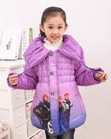 Wholesale Girl Cotton Coat Warm jacket Cartoon Clothes Outer Wear Kids Overcoat Autumn Winter Girls Fashion Outwear Girl Outwear T