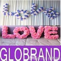 Cheap Display Flower wedding decoration Best Silk Valentine's Day backdrop decoration