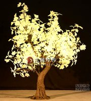 Wholesale 1 m Artificial maple tree with lights Super simulation decorative outdoor lighting trees