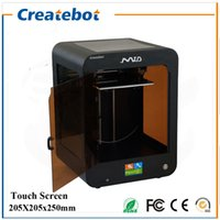 acylic glass - FDM Createbot MID D Printer mm Printing Size full assembled desktop d printer Kit Touch Screen Dual Extruder With Heatbed