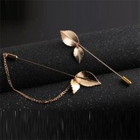 Wholesale Noble Leafage Brooch For Women and Men Elegant Alloy Leisure Style Brooch Real Image Brooches
