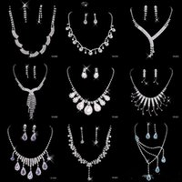 best stainless steel set - Best Selling Cheap Nine Styles Statement Necklaces Pearl Sets Bridesmaids Jewelry Lady Women s Prom Party Fashion Jewelry Earrings