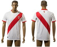 Wholesale 2016 Century American Cup Peru Home Soccer Jerseys Best Quality Customized Peru White Soccer Jersey Football Jersey Jerseys