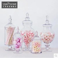 Wholesale 1PCS European and American style glass candy jar storage tank decoration wedding dessert table arranged special tank soft furnishin