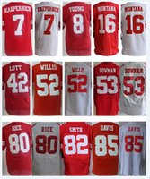 Wholesale 49ers Colin Kaepernick jersey Joe Montana Patrick Willis Anquan Boldin NaVorro Bowman San Francisco size small S XL
