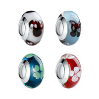 Wholesale 50pcs Sterling Silver Exquisite Charms Murano Glass Beads Color fit Pandora Bracelet DIY Fashion Jewelry For Woman A345