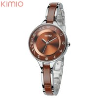 Dress Women's Not Specified New Original Brand KIMIO Lady Fashion Bracelet Watch Japan Quartz with Female Hours Women Casual Watch