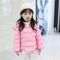 angels brand shorts - 2016 autumn and winter new cotton children in small girls angel wings cotton jacket quality assurance
