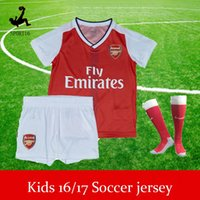 arsenal boy - DHL Kids Soccer Jerseys Sets youth boys child kits Top Quality OZIL WILSHERE ALEXIS GIBBS WALCOTT CHAMBERS Arsenal football