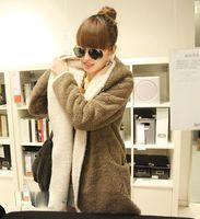 Wholesale 10pcs New Fashion Korean Sided Wear Loose Cloak Hooded Cardigan Autumn Winter Thick Warm Coats Casual Fleece Jacket kg