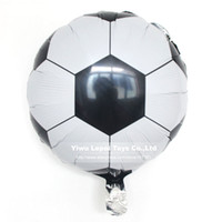 soccer ball lots - inch Football Foil Balloon Soccer Ball Round Helium Balloons theme Birthday party decoration Globos kid s toy