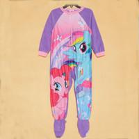baby fleece sleeper - baby rompers in cartoon designs yrs Girls Little Pony Pajamas Fleece Blanket Sleepers