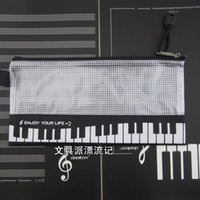 Fabric Pencil Bag Schools & Offices Music stationery notes piano music pencil case notes series stationery kit cosmetic bag23*11.5CM