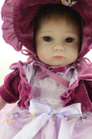 adorable doll clothes - Newest cm Popular NPK Silicone Reborn Baby Dolls With Lovely Clothes Boneca Lifelike Adorable Newborn Baby Dolls For Hot Sale